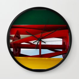 """tricolor lawnmower """"flag"""" abstract Wall Clock"""