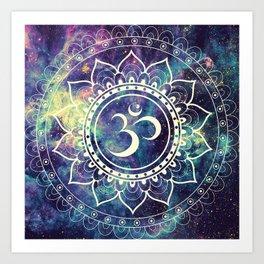 Om Mandala : Deep Pastels Galaxy Art Print