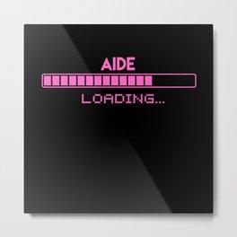 Aide Loading Metal Print