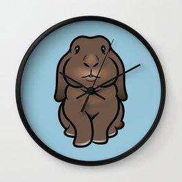 Coco the Minilop Bunny Wall Clock