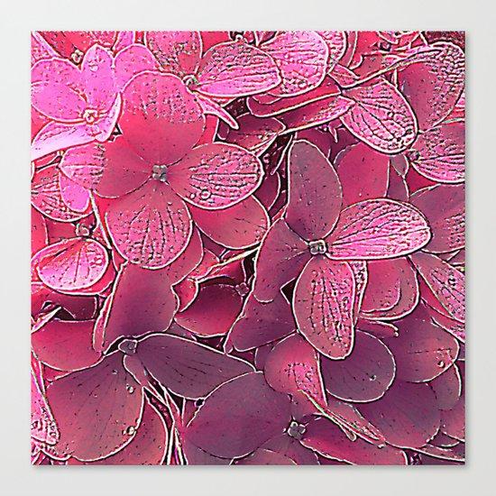 Magenta viburnum Canvas Print