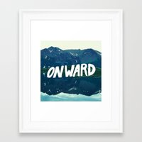 onward Framed Art Prints featuring Onward by Good Sense