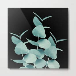 Eucalyptus Leaves Green Black #1 #foliage #decor #art #society6 Metal Print