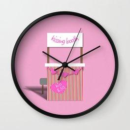 Kissing Booth Wall Clock