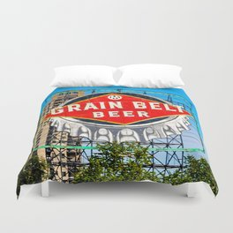 Grain Belt Beer Sign Duvet Cover