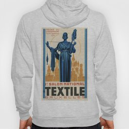 1938 Art deco Textile Expo Brussels Hoody