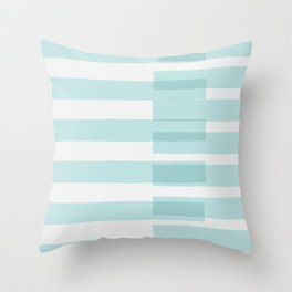 Big Stripes In Turquoise Throw Pillow