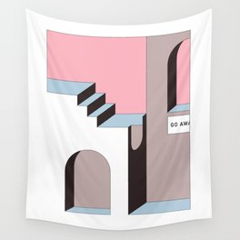 Go Away - At least try. Wall Tapestry