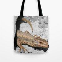 lizard Tote Bags featuring Lizard by Anja Kidrič AdAk