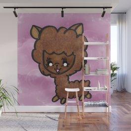 Happy little alpaca Wall Mural