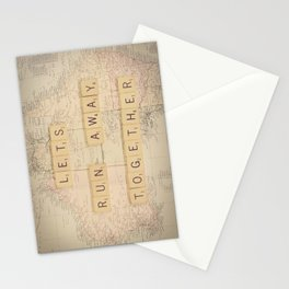 Lets Run Away Together Stationery Cards
