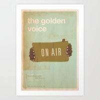 movie posters Art Prints featuring Golden Voice - Meme Movie Posters by Stefan van Zoggel
