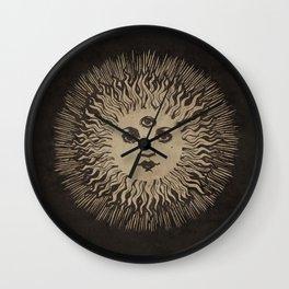Three Eyed Sun Wall Clock