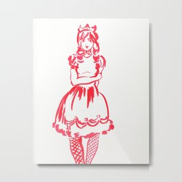 Red Princess Metal Print