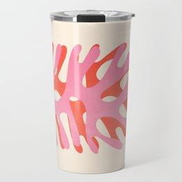 Sea Leaf: Matisse Collage Peach Edition Travel Mug