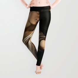 David with the head of Goliath by Caravaggio Leggings