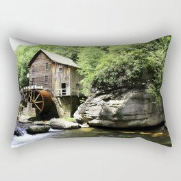 The Mill at Babcock State park Rectangular Pillow
