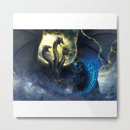 King Ghidorah vs Destoroyah , Godzilla Metal Print