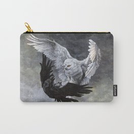 Yin Yang Owl and Raven Carry-All Pouch
