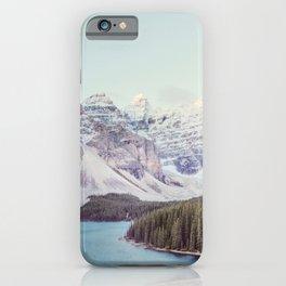 Moraine Lake Sunrise, Mountain Landscape, Nature Photography iPhone Case