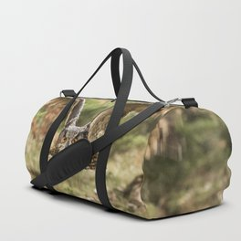 Eagle Owl In Flight Duffle Bag