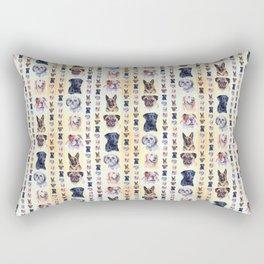 Dog Portraits Plaid Rectangular Pillow