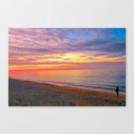 Comer Beach at Sunset Canvas Print