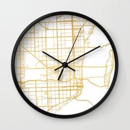 MIAMI FLORIDA CITY STREET MAP ART Wall Clock