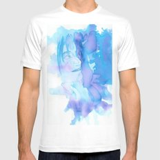 Lady in Blue MEDIUM Mens Fitted Tee White
