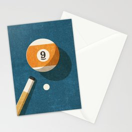 BILLIARDS / Ball 9 Stationery Cards