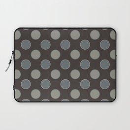Oatmeal Stout Retro Polka Dot Print Seamless Pattern Laptop Sleeve