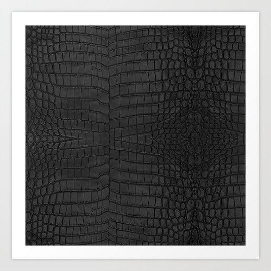 Black Crocodile Leather Print by loolyelzayat