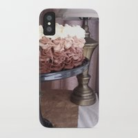 cake iPhone & iPod Cases featuring Cake by Pistache and Rose