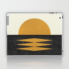 Sunset Geometric Midcentury style Laptop & iPad Skin