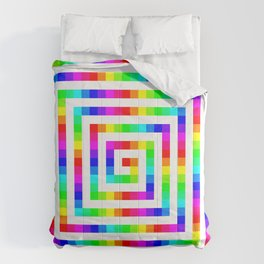 12 Color Square Spiral Comforters