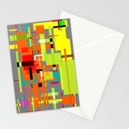 Lines and Sqaures Stationery Cards