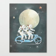space tandem Canvas Print