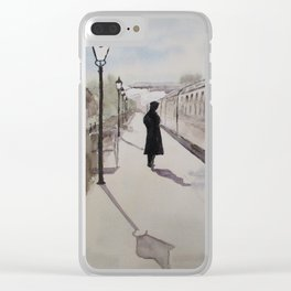 Waiting at Williton Clear iPhone Case