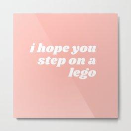 step on a leggo Metal Print