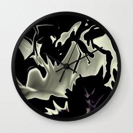Moon Liquified Wall Clock