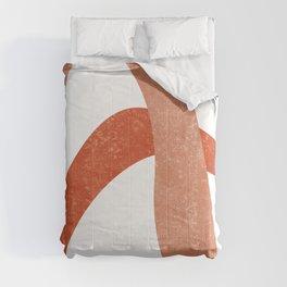 Terracotta Art Print 6 - Terracotta Abstract - Modern, Minimal, Contemporary Print - Burnt Orange Comforters