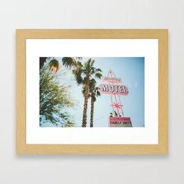 Motel Vintage Sign Framed Art Print