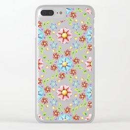 Millefiori Pinwheel Pattern Clear iPhone Case