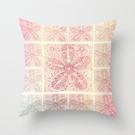 Vintage Boho Lace Flower Throw Pillow