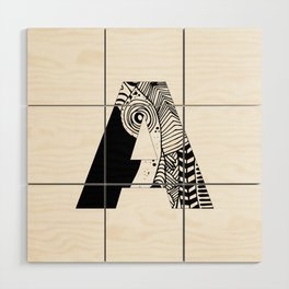 The letter A Wood Wall Art