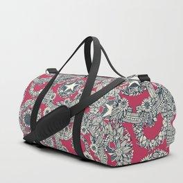 cirque fleur rose Duffle Bag