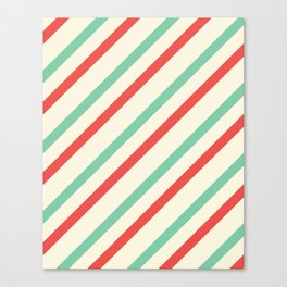 Red And Green Stripes  Canvas Print