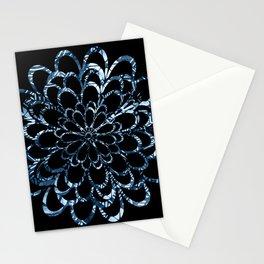 Ice Blue Floral Design Stationery Cards
