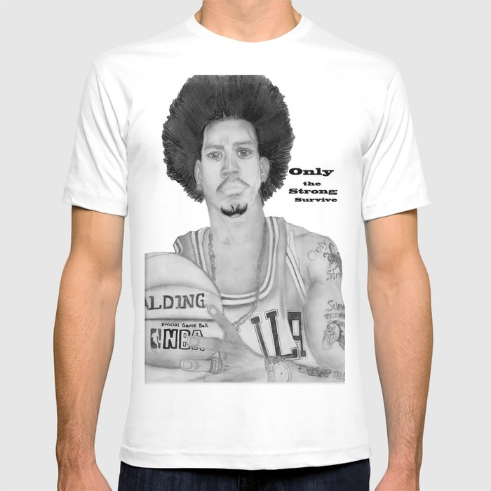 ae8c98e9c image 0 Source · Allen Iverson Rookie Year Portrait T shirt by  geminiroyalty Society6