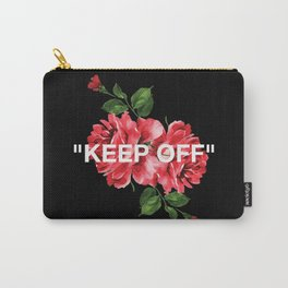 Keep Off White – Roses Carry-All Pouch